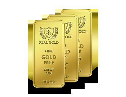 Золотой слиток 250г